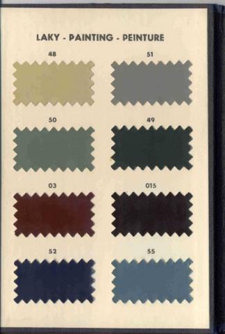 Vzorník barev Škoda 1102, rok 1951 - Vzorník barev Škoda 1102, rok 1951
