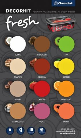Vzorník barev Chemolak DECORHIT Fresh - Vzorník barev Chemolak DECORHIT Fresh