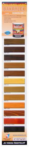 Vzorník barev Bakrylex Diskolor - Vzorník barev Bakrylex Diskolor