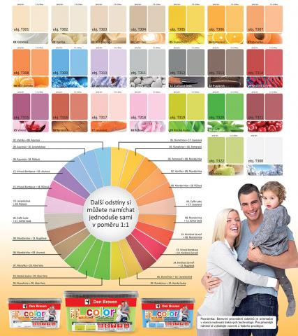 Vzorník barev Den Braven Color - Vzorník barev Den Braven Color