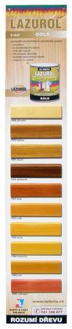 Vzorník barev Lazurol Gold - Vzorník barev Lazurol Gold