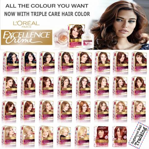 Odstíny barev Loreal Excellence Creme - Odstíny barev Loreal Excellence Creme