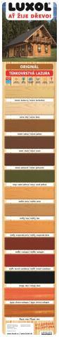 Odstíny barev Luxol Originál lazura na dřevo - Odstíny barev Luxol Originál lazura na dřevo