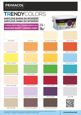 Vzorník barev Primacol Trendy Colors - Vzorník barev Primacol Trendy Colors