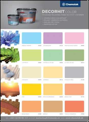 Vzorník barev Chemolak DECORHIT Color - Vzorník barev Chemolak DECORHIT Color