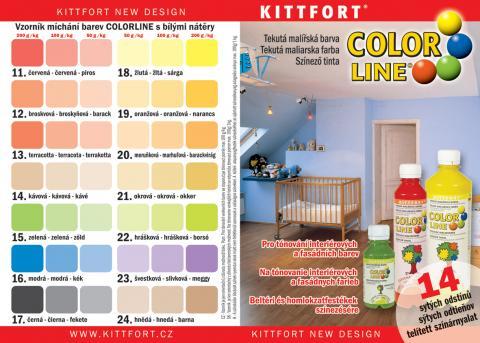 Vzorník barev Kittfort Colorline - Vzorník barev Kittfort Colorline